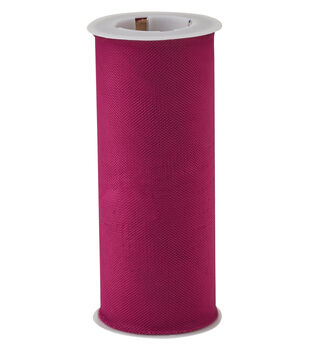 Save the Date Matte Tulle Spool 6''x75'-Purple Potion