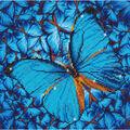 Diamond Embroidery Facet Art Kit 15\u0022X15\u0022-Flutter By Blue