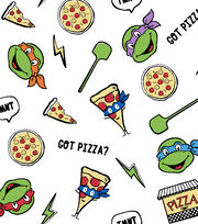 Teenage Mutant Ninja Turtles Flannel Fabric -Pizzas And Turtles, , hi-res