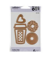 Spellbinders Indie Line Die D-Lites 6 pk Etched Dies-Coffee Time, , hi-res