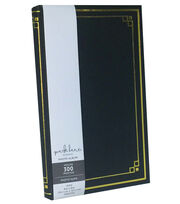 Park Lane Photo Album-Leather Black and Gold Foil, , hi-res