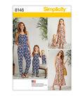 Simplicity Pattern 8146 Misses\u0027/Children\u0027s Outfits-Size A (3-8/XS-XL)