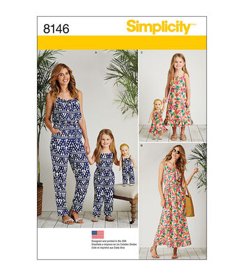 Simplicity Pattern 8146 Misses'/Children's Outfits-Size A (3-8/XS-XL)