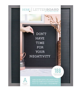 DCWV Home 16''x20'' Black Letter Board with 1'' White Letters