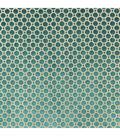 Home Decor 8\u0022x8\u0022 Fabric Swatch-Velvet Geo / Turquoise