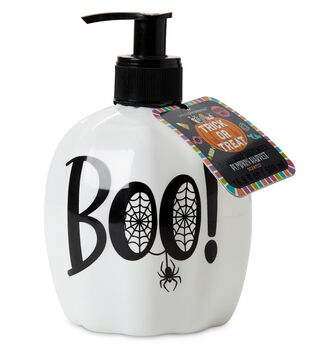 Simple Pleasures Soap Dispenser with Pumpkin Harvest Scented Soap-Boo!