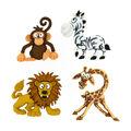 Jesse James Dress It Up Animals Button Embellishments-Silly Safari