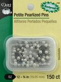 Petite Pearlized Pins -Size 12 150/Pkg