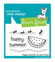 "Lawn Fawn Clear Stamps 3""X2""-Happy Summer, , hi-res"