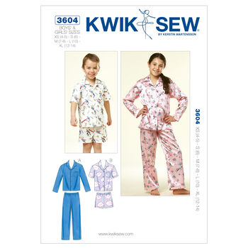 Kwik Sew Pattern K3604 Children's Sleep & Lounge
