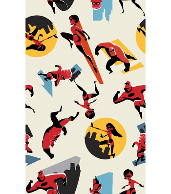 Disney Incredibles 2 Cotton Fabric 43''-Badges