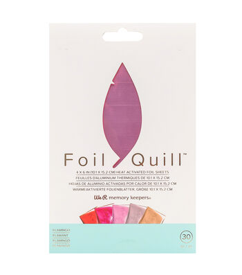We R Memory Keepers Foil Quill 30 pk 4''x6'' Foil Sheets-Flamingo