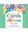 American Crafts A2 Cards W/Envelopes 40/Box-Amy Tan Sunshine