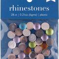 hildie & jo 28 pk 0.21 oz. Plastic Flat Back Rhinestones-Multicolor