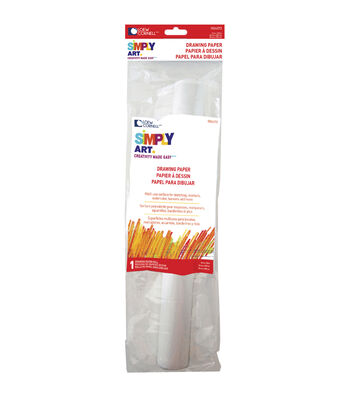 """Simply Art Drawing Paper Roll 12""""X120"""""""