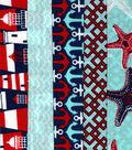Jelly Roll Cotton Fabric Pack 2.5\u0027\u0027x42\u0027\u0027-Nautical