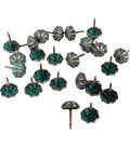 Realeather Crafts 24 pk Parachute Furniture Tacks-Copper Patina