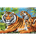 15-1/4\u0027\u0027x11-1/4\u0027\u0027 Junior Paint By Number Kit-Tiger & Cubs