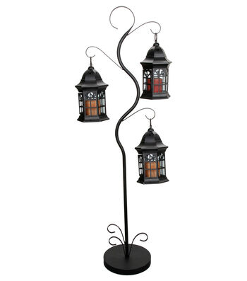 Metal Glass Lantern-51 x 10 x 10 inches
