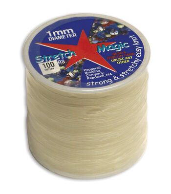 Stretch Magic Bead & Jewelry Cord 1mm 100 Meters/Pkg-Clear