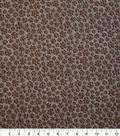 Novelty Cotton Fabric 43\u0022-Tan Paw Prints