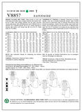 Mccall Pattern V8857 8-10-12-14-Vogue Pattern