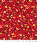 Keepsake Calico Cotton Fabric-Red Packed Floral