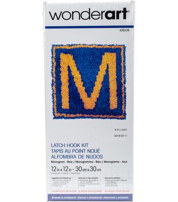 Wonderart 12''x12'' Latch Hook Kit-Monogram Boy