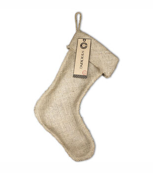 "Burlap Large Stocking 11""X17""-"