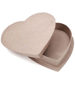 "Paper-Mache Heart Box-12"""