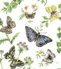 Snuggle Flannel Fabric 42\u0027\u0027-Monarch Butterflies on White