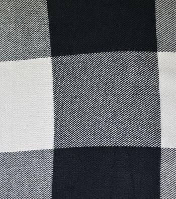 "Sportswear Acrylic Fabric 52""-Black & Cream Buffalo Check"