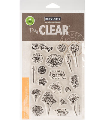 Hero Arts 19 pk Clear Stamps-Little Florals