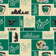 "University of South Florida Bulls Fleece Fabric 58""-Block, , hi-res"