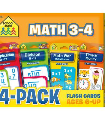 Flash Cards 4-Pack-Math 3-4