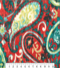 Anti-Pill Fleece Fabric 59\u0022-Poppy Teal Paisley