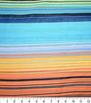 Fast Fashion Chiffon Fabric-Multi Color Stripe