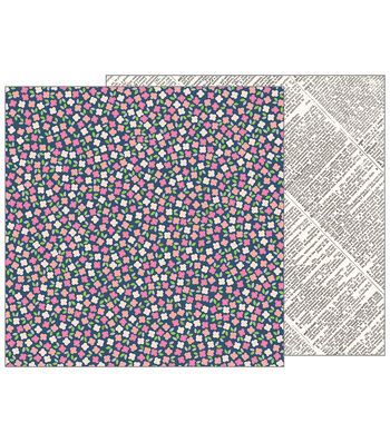 Pebbles Jen Hadfield Patio Party Double-Sided Cardstock-Scattered Posies