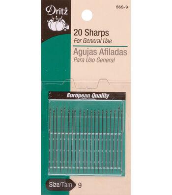 Dritz Sharps Hand Needles 20pcs Size 9