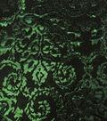 Casa Embellish Metallic Jacquard Fabric - Evergreen/Blk