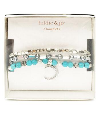 hildie & jo 3 pk Bracelets in a Box-Turquoise