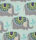 Snuggle Flannel Fabric 42\u0022-Elephant Shower