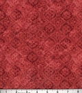 Buttercream Poppy Collection Cotton Fabric-Tonal Aztec Red
