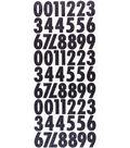 Sticko 120 Pack 5.75\u0027\u0027x13.5\u0027\u0027 Futura Glitter Numbers-Black