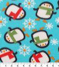 Blizzard Fleece Fabric 59\u0022-Penguins Bundled In Scarfs