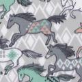 Blizzard Fleece Fabric-Aztec Running Horses