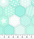 Snuggle Flannel Fabric -Mint Quilt Pattern