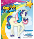 Colorbok Makit&Bakit Suncatcher Kit-Glitter Unicorn