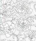 All That Glitters Rose Burnout Organza Fabric-Black/White