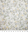 Premium Cotton Fabric-Cream & Pearl Mini Garden